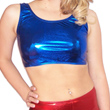 Adults Metallic Scoop Neck Crop Top - CLEARANCE