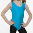 Childrens Lycra Sleeveless Plain Fronted Leotard