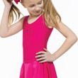 Childrens Lycra Skirted Leotard with Ruched Front