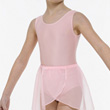 Childrens Lycra S/Less Leotard Plain Front w.Belt