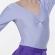 Childrens Lycra Long Sleeved Ruched Leotard