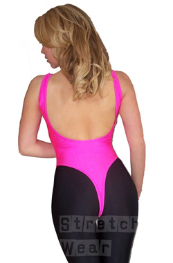 Lycra Thong Leotard Sleeveless Nylon Lycra Thong Leotard