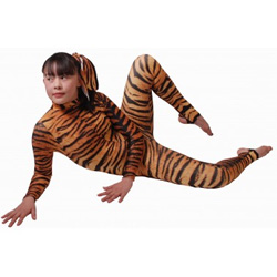 Siberian Tiger Catsuit  sc 1 st  Dancewear at Stretchwear & Siberian Tiger Catsuit - Siberian Tiger print long sleeve polo neck ...