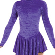 Velvet Lycra Skirted Long Sleeved Leotard